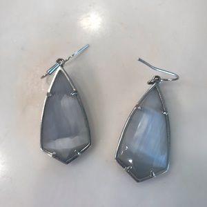 Kendra Scott silver and grey earrings